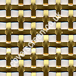 Gold Anodised Interwoven Effect Aluminium Grille