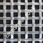 Anodised Silver Aluminium Interwoven Square Effect