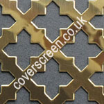 Solid Brass 23mm Cross Shaped Grille