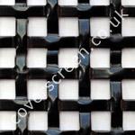 interwoven square grille black powder coated