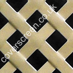 powder coated gold woven effect decorative grille
