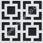 maze white decorative grille