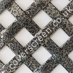 interwoven diamond pewter powder coated