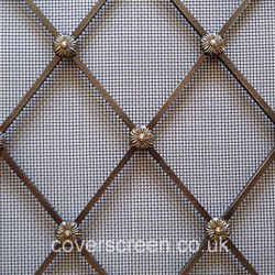 Regency Diamond Brass grilles - Antique Brass Finish